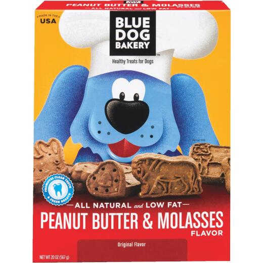 Blue Dog Bakery Original Peanut Butter & Molasses Crunchy Dog Treat, 20 Oz.