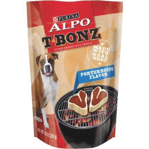 Purina Alpo T-Bonz Beef Flavor Chewy Dog Treat, 10 Oz.
