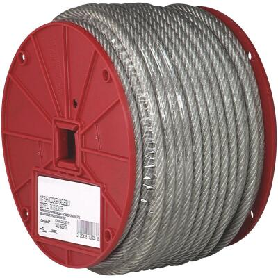 Campbell 1/4 In. x 200 Ft. Vinyl-Coated Galvanized Clothesline Cable