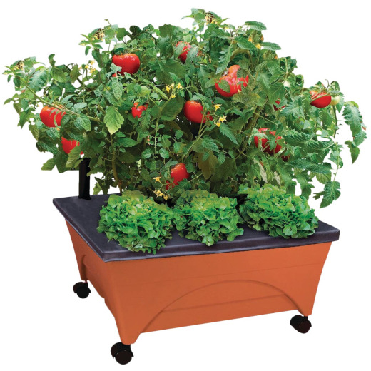 City Pickers 24 In. W. x 20 In. H. x 24 In. L. Terra Cotta Resin Patio Garden System