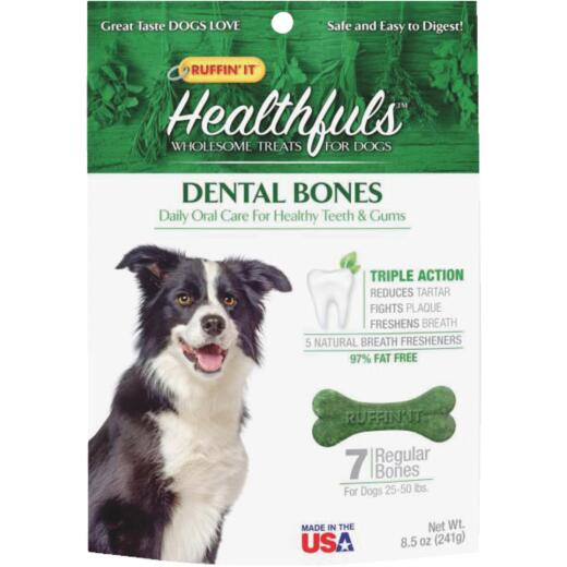 Ruffin' it Healthfuls Medium Dog Mint Flavor Dental Dog Treat (7-Pack)