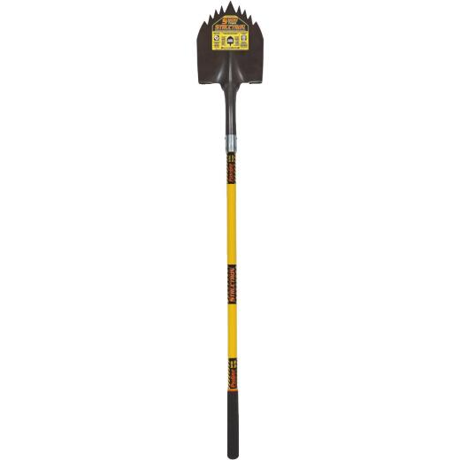Structron S600 Power 48 In. Fiberglass Handle Notched Round Point Shovel