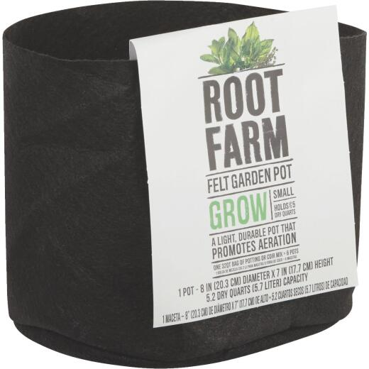 Root Farm Felt Small Garden Pot