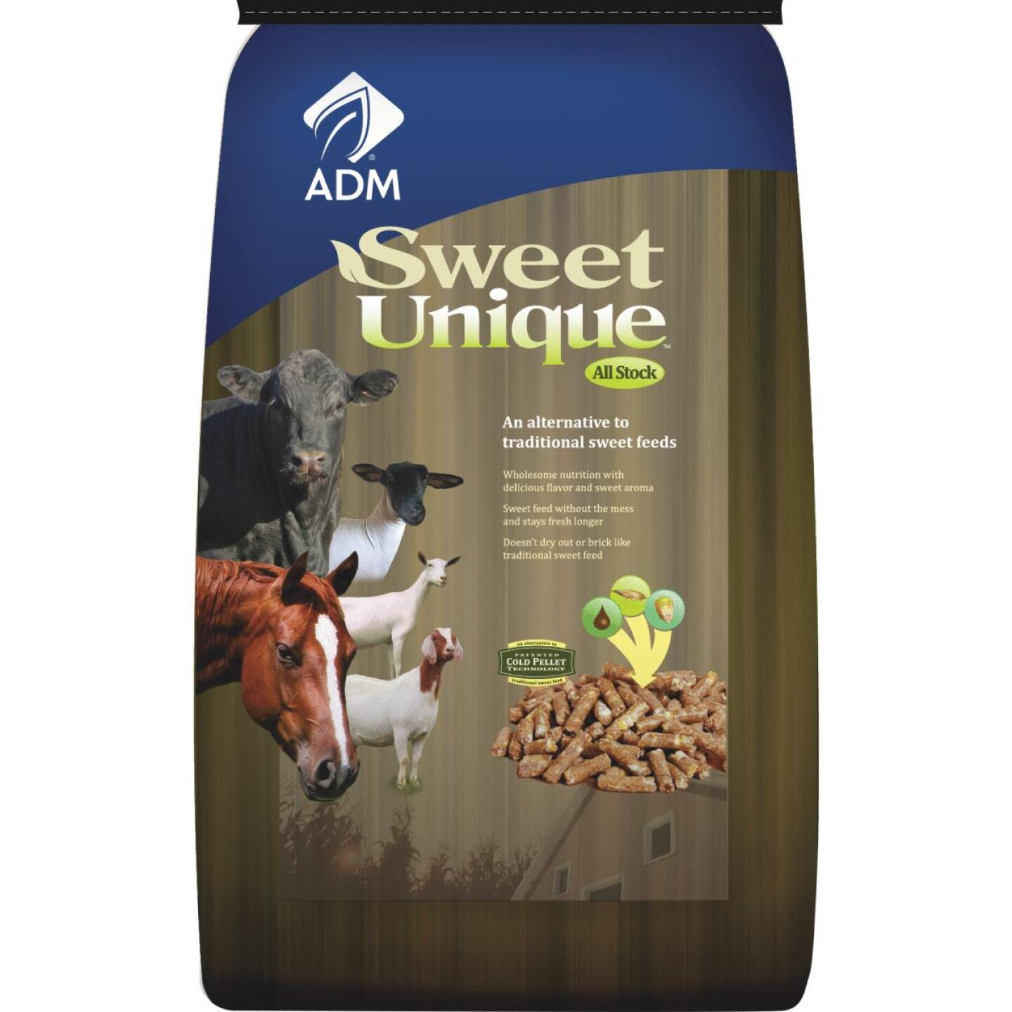 ADM Sweet Unique 50 Lb. All Stock Feed Image 1