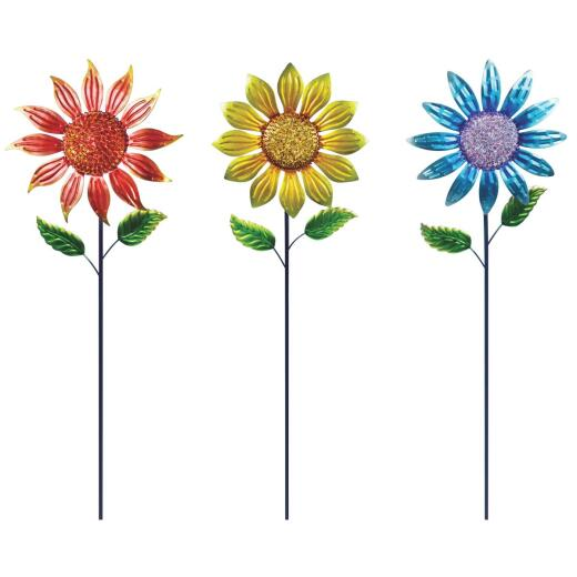 Alpine 36 In. H. Metal Sunflower Garden Stake Lawn Ornament