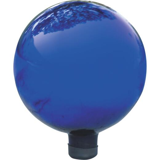Alpine 12 In. Electric Blue Glass Gazing Globe Lawn Ornament