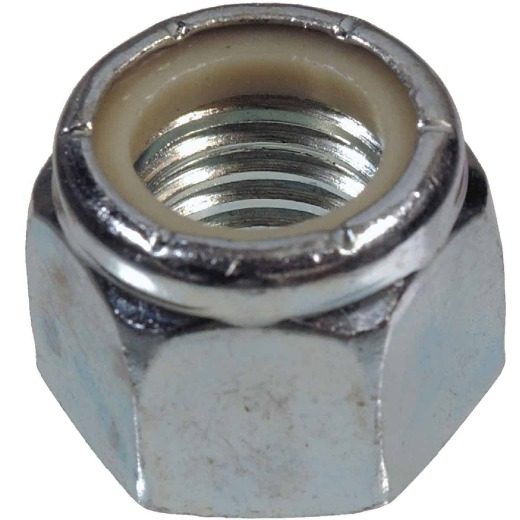 Hillman 7/16 In. 14 tpi Steel Course Thread Nylon Insert Lock Nut (50 Ct.)