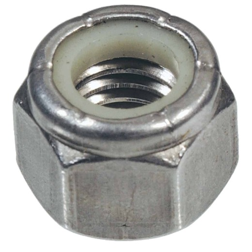 Hillman #8 32 tpi Stainless Steel Course Thread Nylon Insert Lock Nut (100 Ct.)