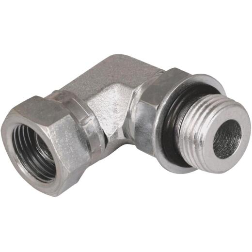 Apache 1/2 In. Male O-Ring x 1/2 In. Female Pipe Swivel 90 Deg. Hydraulic Hose Adapter