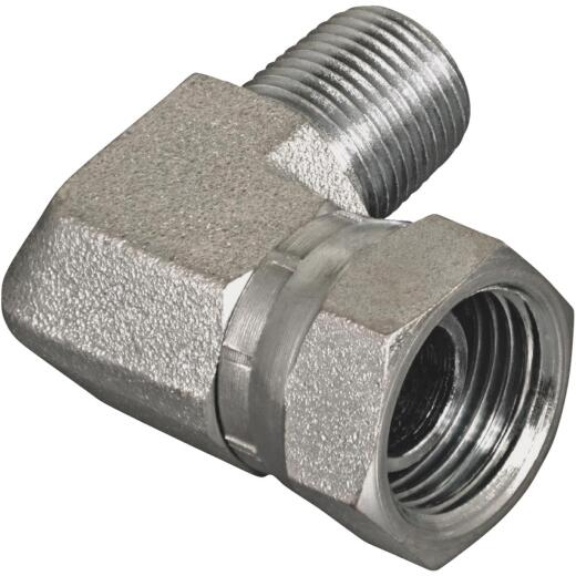 Apache 1/2 In. Male Pipe x 1/2 In. Female Pipe Swivel 90 Deg. Hydraulic Hose Adapter