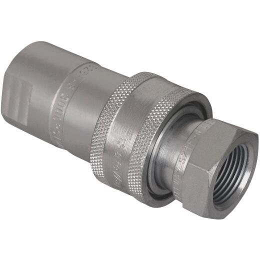 Apache 1/2 In. FNPT Steel Zinc-Plated Hydraulic Hose Coupler