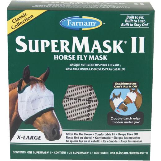 Farnam SuperMask II Extra Large Silver Horse Fly Mask