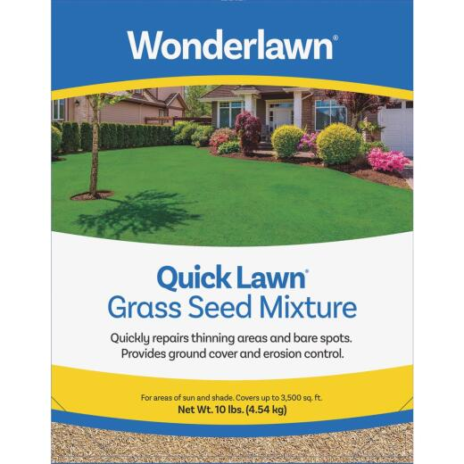 Wonderlawn Quick Lawn 10 Lb. 3000 Sq. Ft. Coverage Annual & Perennial Ryegrass Grass Seed