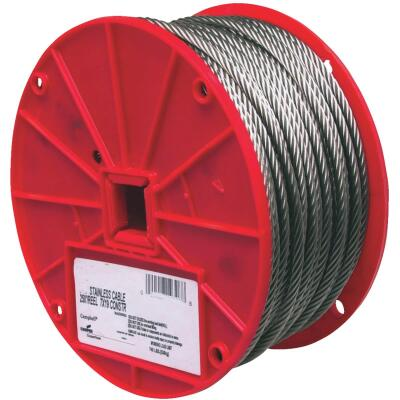 Campbell 3/16 In. x 250 Ft. Stainless Steel Wire Cable