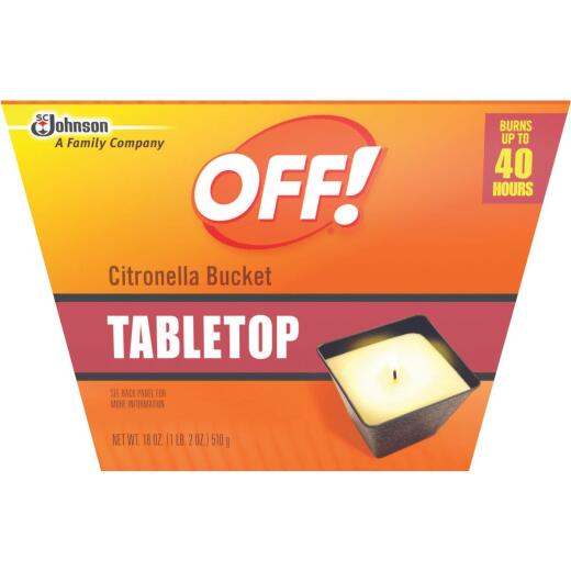 OFF! 18 Oz. 1-Wick Tabletop Citronella Candle
