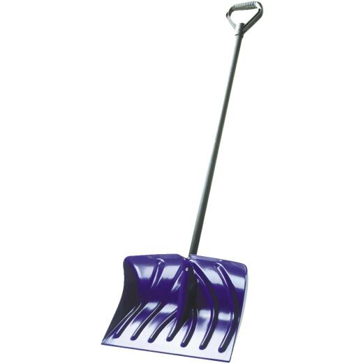 Suncast 18 In. Poly Snow Shovel with 39 In. Steel Handle