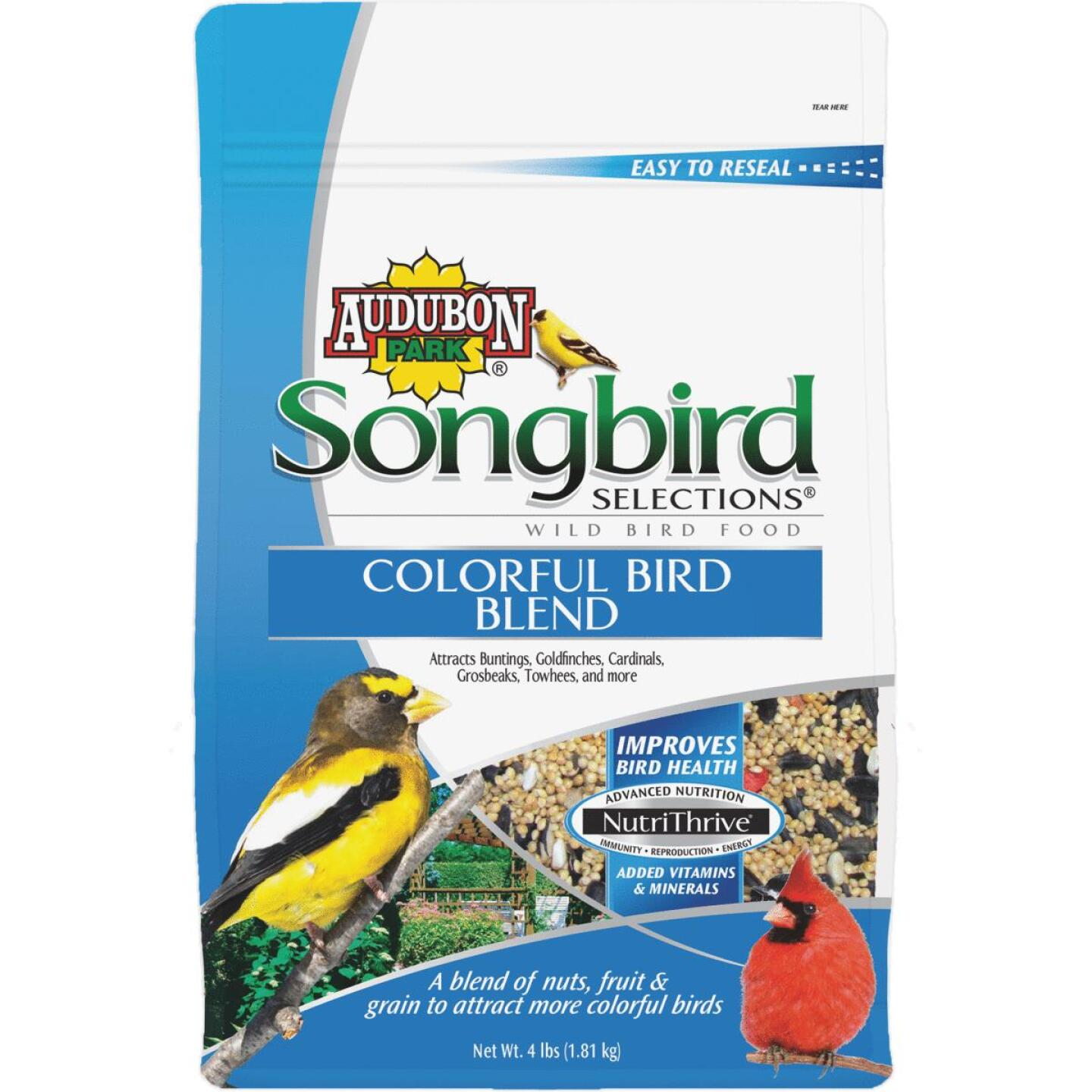 Audubon Park Songbird Selections 4 Lb. Colorful Wild Bird Seed Image 1