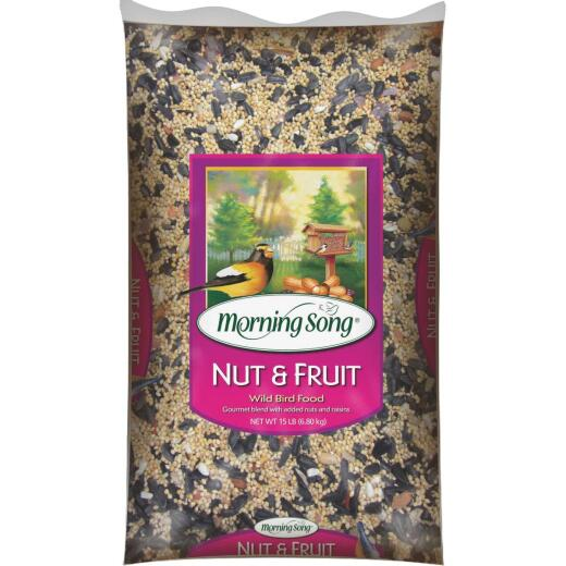 Morning Song 15 Lb. Nut & Fruit Blend Wild Bird Seed