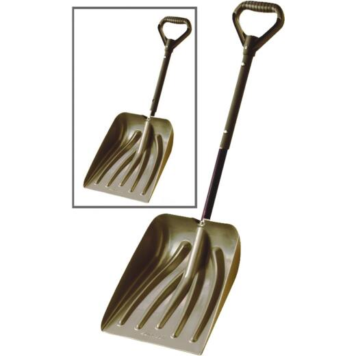 Suncast 11 In. Graphite Emergency Automotive Snow Shovel with 36 In. Steel Telescoping Handle