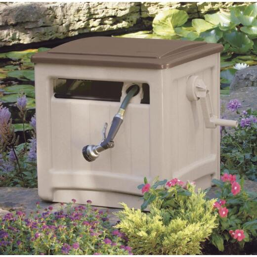 Suncast Smart Trak Hideaway 225 Ft. x 5/8 In. Taupe w/Bronze Lid Resin Hose Reel