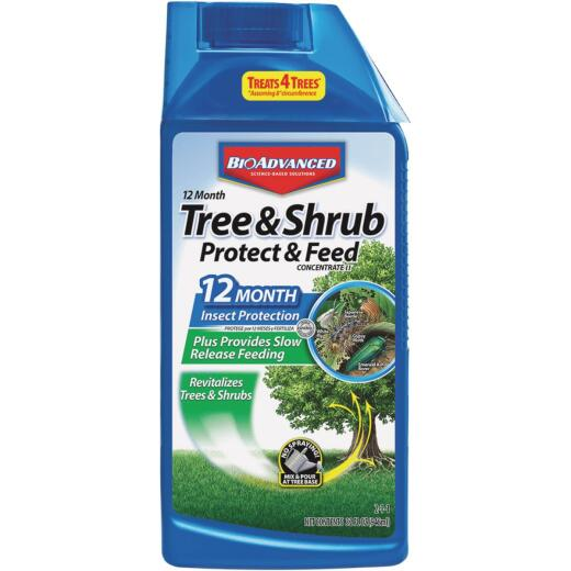 BioAdvanced 1 Qt. Concentrate Tree & Shrub Protect & Feed Insect Killer