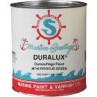 DURALUX Flat Marine Paint, Camouflage Pirogue Green, 1 Qt. Image 1
