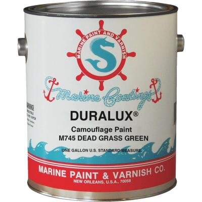 DURALUX Flat Camoulflage Marine Paint, Dead Grass Green, 1 Gal.