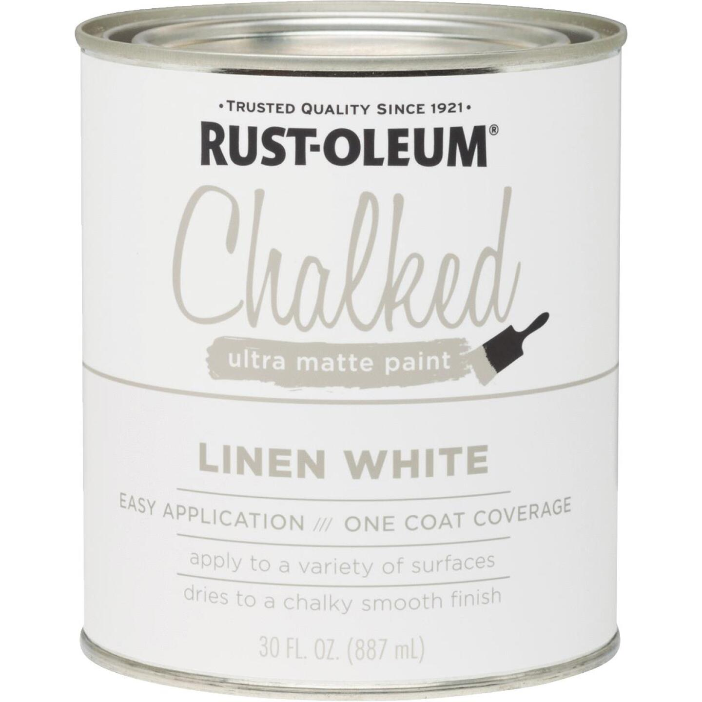 Rust-Oleum Chalked Linen White Ultra Matte 30 Oz. Chalk Paint Image 1