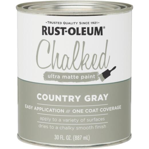 Rust-Oleum Chalked Country Gray Ultra Matte 30 Oz. Chalk Paint