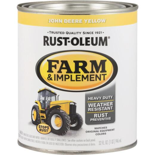 Rust-Oleum 1 Quart John Deere Yellow Gloss Farm & Implement Enamel