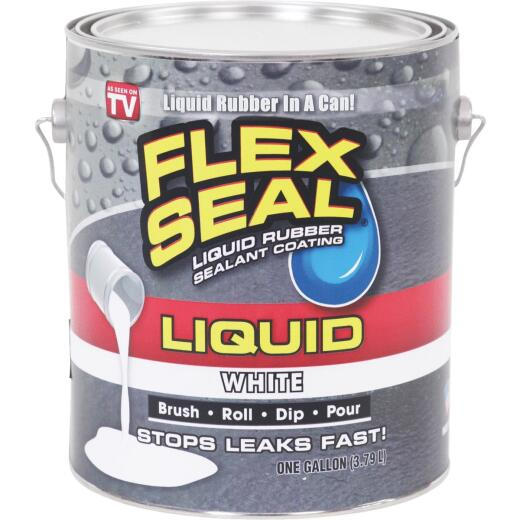 FLEX SEAL 1 Gal. Liquid Rubber Sealant, White