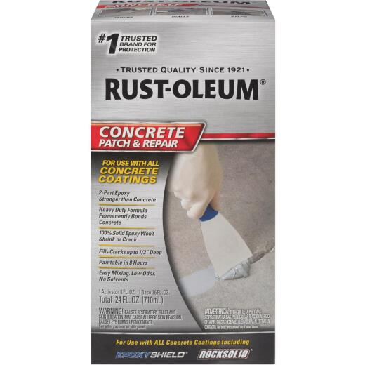 Rust-Oleum Concrete Patch & Repair Kit, Gray, 24 Oz.