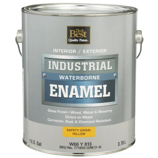 Do it Best Waterborne Industrial Enamel, Osha Yellow, 1 Gal.
