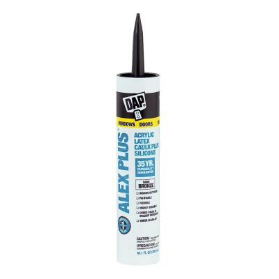 DAP ALEX PLUS All Purpose 10.1 Oz. Dark Bronze Siliconized Acrylic Latex Caulk
