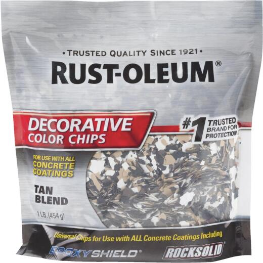 Rust-Oleum Color Chip Concrete Coating, 1 Lb., Tan