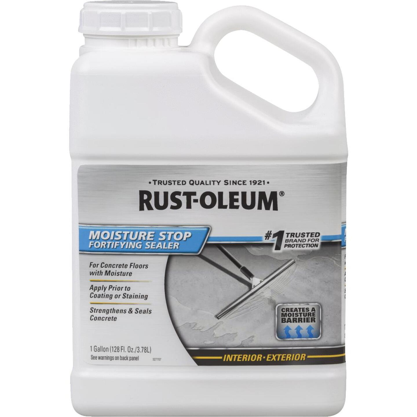 Rust-Oleum Moisture Stop Fortifying Concrete Sealer, 1 Gal., Clear Image 1