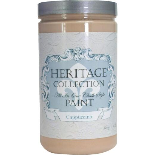 Heirloom Traditions Heritage Collection All-In-One Chalk Style Paint, Cappuccino, 1 Qt.