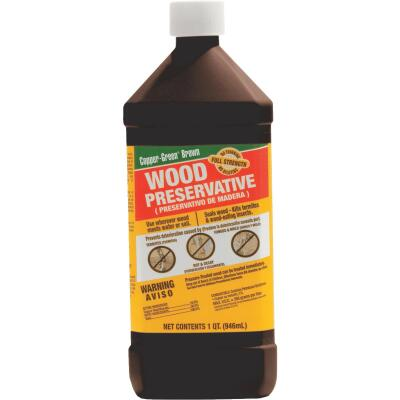 Copper-Green Exterior Wood Preservative, 1 Qt., Brown