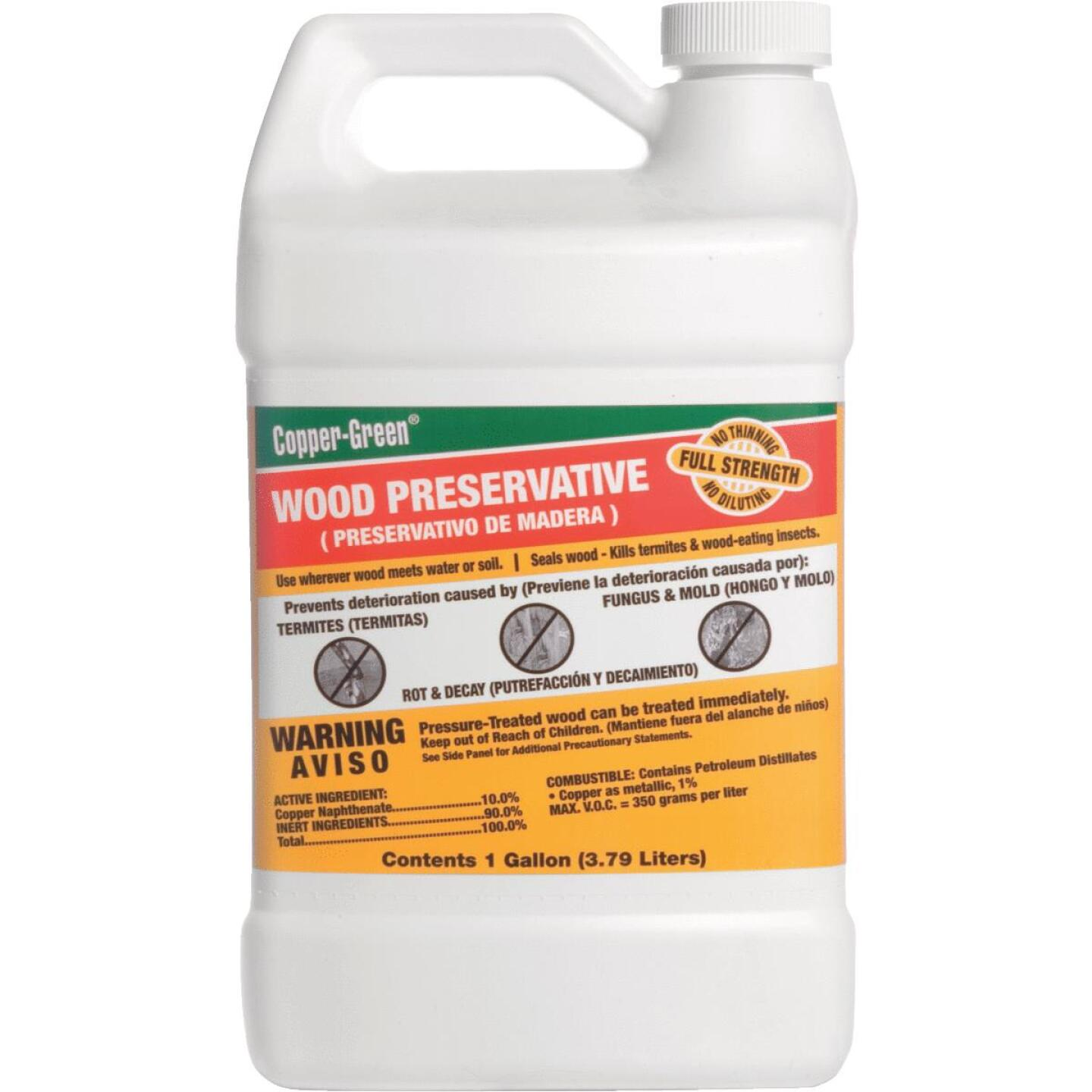 Copper-Green Exterior Wood Preservative, 1 Gal., Green Image 1