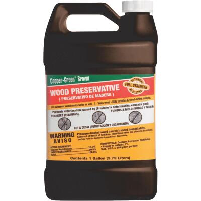 Copper-Green Exterior Wood Preservative, 1 Gal., Brown