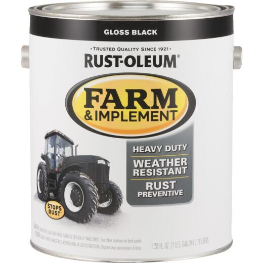 Rust-Oleum 1 Gallon Black Gloss Farm & Implement Enamel