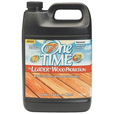 One TIME Natural Wood Preservative Protector & Stain All In One, 1 Gal.