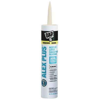 DAP ALEX PLUS All Purpose 10.1 Oz. Almond Siliconized Acrylic Latex Caulk