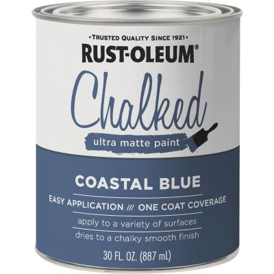 Rust-Oleum Chalked Ultra Matte Coastal Blue 30 Oz. Chalk Paint