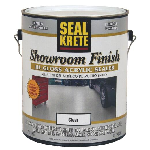 Seal Krete Clear Hi Gloss Concrete Paint, 1 Gal.