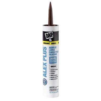 DAP ALEX PLUS All Purpose 10.1 Oz. Brown Siliconized Acrylic Latex Caulk