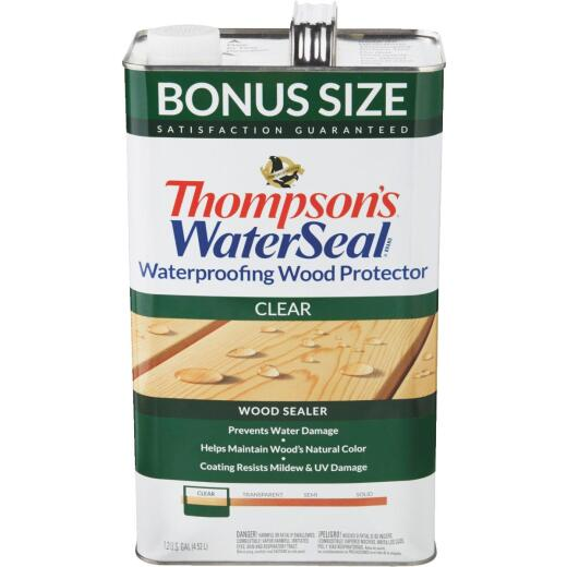 Thompsons WaterSeal Clear Water-Based VOC Compliant Wood Protector, 1.2 Gal.