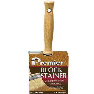 Premier 4 In. Professional Bristle Block Stain Brush
