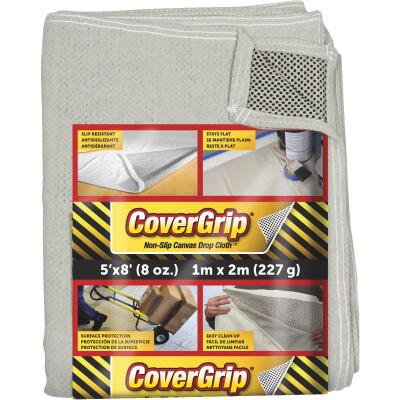 CoverGrip 5 Ft. x 8 Ft. 8 Oz. Non-Slip Safety Drop Cloth