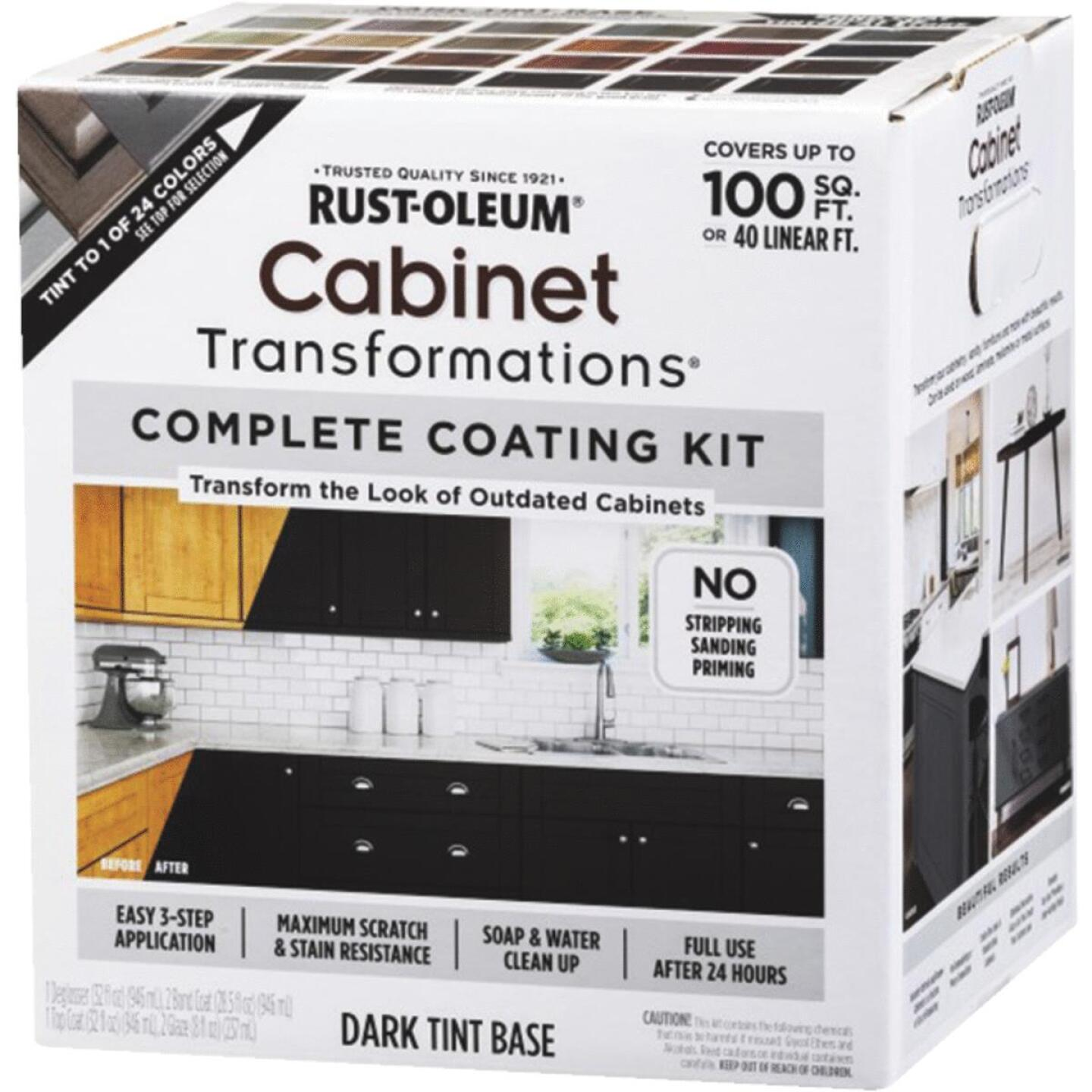 Rust-Oleum Transformations Dark Tint Base Kitchen Cabinet Coating Kit Image 1